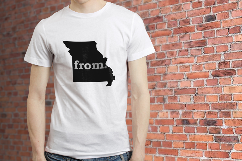 T's From - T-Shirt with Missouri